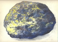Wieland Payer, Mineral I, 2009, pastel and charcoal on paper, 23 x 30 cm