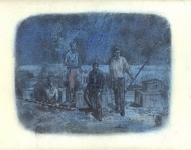 Wieland Payer, Team, 2009, pastel and charcoal on paper, 20 x 28 cm