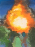 Wieland Payer, Explosion, 2009, pastel and charcoal on paper on board, 80 x 60 cm