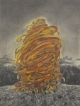 Wieland Payer, Pionier VII, 2010, charcoal and pastel on paper, 40 x 30 cm