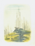 Peak, 2011, pastel and pencil on paper, 30 x 24 cm