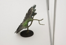 Wieland Payer, Drone II, 2011, paper object, oakwood, 50 x 60 x 70 cm