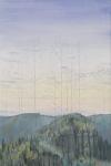 Wieland Payer, Copse, 2012, oil on balsa MDF, 21 x 14 cm
