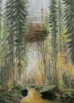 Wieland Payer, Nest, 2012, oil on balsa MDF, 25 x 18 cm