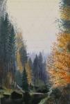 Wieland Payer, Wall, 2012, oil on balsa MDF, 21 x 14 cm