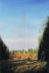 Wieland Payer, Tree, 2012, oil on balsa MDF, 21 x 14 cm