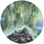 Wieland Payer, Jungle, 2013, pastel , d= 110 cm