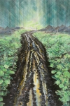 Trail, 2013, pastel and charcoal on paper on MDF, 120 x 80 cm