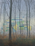 Wieland Payer, Base, 2013, oil on balsa MDF, 30 x 23 cm
