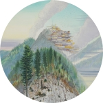 Wieland Payer, Silver Mountain, 2013, oil, d = 32 cm