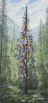 Wieland Payer, Der Baum, 2014, pastel and charcoal on paper on balsa MDF, 125 x 58 cm