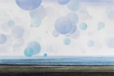 Payer, Wieland: ATLANTIC; 2018, Pastell und Kohle auf grundiertem MDF, 800 x 1200 mm     Fotro: Herbert Boswank
