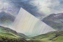 Wieland Payer, Kante, 2018, Pastell auf grundiertem MDF, 80 x 120 cm, Foto: Herbert Boswank