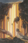 Wieland Payer, Lava Foss, 2018, Pastell auf grundiertem MDF,  190 x 125 cm, Foto: Herbert Boswank