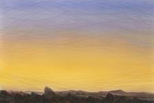 Wieland Payer, Midnight, 2018, Pastell auf grundiertem MDF, 80 x 120 cm, Foto: Herbert Boswank